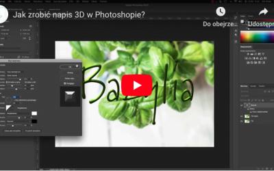 Jak szybko zrobić napis 3D w Photoshopie