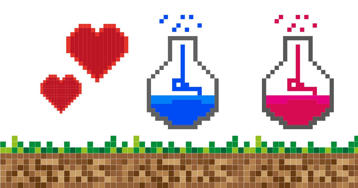 pikselowa grafika jak z gry Minecraft