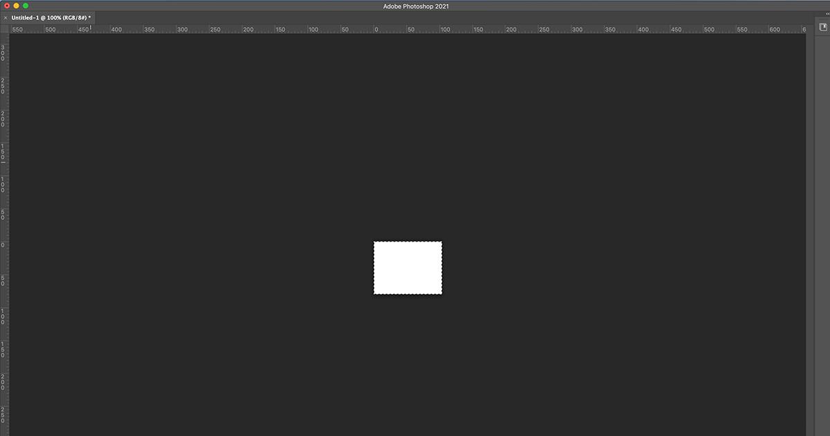 Pusty obszar roboczy w Photoshopie